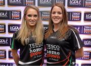 30 May 2013; Mairead Moore, left, and Maire Brady, Longford, members of the TESCO HomeGrown NFL Division 3 Team of the League 2013. 2013 TESCO HomeGrown Ladies National Football Team of the League Presentations. Croke Park, Dublin. Picture credit: Barry Cregg / SPORTSFILE