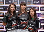 30 May 2013; Limerick players, from left, Yvette Moynihan, Alva Neary, and Dympna O'Brien, members of the TESCO HomeGrown NFL Division 4 Team of the League 2013. 2013 TESCO HomeGrown Ladies National Football Team of the League Presentations. Croke Park, Dublin. Picture credit: Barry Cregg / SPORTSFILE