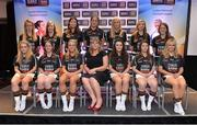 30 May 2013; Leinster representatives in the 2013 TESCO HomeGrown Ladies National Football Teams of the League, back row, from left, Lorraine Kenna, Offaly, Siobhan Flannery, Westmeath, Laura Walsh, Westmeath, Irene Munnelly, Meath, Johanna Maher, Westmeath, Mairead Daly, Offaly, Marie Brady, Longford. Front row, from right, Mairead Moore, Longford, Maeve Quill, Wexford, Aisling Savage, Kildare, Marie Hickey, Ladies Football Association, Lucy Mulhall, Wicklow, Emma Corcoran, Offaly, Jenny McGuinness, Louth. 2013 TESCO HomeGrown Ladies National Football Team of the League Presentations. Croke Park, Dublin. Picture credit: Barry Cregg / SPORTSFILE