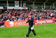 2 June 2013; James McCartan, Down manager, goes to take his place on the sideline. Ulster GAA Football Senior Championship, Quarter-Final, Derry v Down, Celtic Park, Derry. Picture credit: Oliver McVeigh / SPORTSFILE