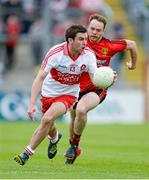 2 June 2013; Benny Heron, Derry, in action against Ryan Mallon, Down. Ulster GAA Football Senior Championship, Quarter-Final, Derry v Down, Celtic Park, Derry. Picture credit: Oliver McVeigh / SPORTSFILE