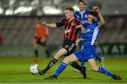 1 November 2017; Jamie Hamilton of Bohemians in action against Paul Cleary of St Patrick's Athletic during the SSE Airtricity National Under 19 League Final match between Bohemians and St Patrick's Athletic at Dalymount Park in Dublin. Photo by Piaras Ó Mídheach/Sportsfile