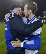 30 October 2017; St Vincent's manager Brian Mullins and his son Nathan Mullins after the Dublin County Senior Club Football Championship Final match between Ballymun Kickhams and St Vincent's at Parnell Park in Dublin. Photo by Matt Browne/Sportsfile