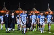 3 November 2017; Dan Leavy and his Leinster teammates following their defeat in the Guinness PRO14 Round 8 match between Glasgow Warriors and Leinster at Scotstoun in Glasgow, Scotland. Photo by Ramsey Cardy/Sportsfile