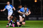 3 November 2017; Rory O'Loughlin of Leinster is tackled by Niko Matawalu of Glasgow Warriors during the Guinness PRO14 Round 8 match between Glasgow Warriors and Leinster at Scotstoun in Glasgow, Scotland. Photo by Ramsey Cardy/Sportsfile