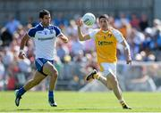 9 June 2013; Sean Kelly, Antrim, in action against Neil McAdam, Monaghan. Ulster GAA Football Senior Championship Quarter-Final, Antrim v Monaghan, Casement Park, Belfast, Co. Antrim. Picture credit: Oliver McVeigh / SPORTSFILE