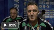 Ireland boxing coach Billy Walsh speaking following Joe Ward's victory over Oleksandr Khyzhniak, Ukraine, in their Men's Light Heavyweight 81kg last 16 bout.