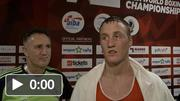 Michael O'Reilly after his Quarter-Final victory