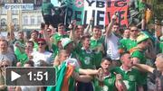 Republic of Ireland supporters ahead of Italy game