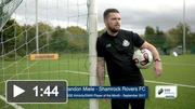 Shamrock Rovers FC's Brandon Miele after receiving the SSE Airtricity / SWAI Player of the Month Award for September 2017