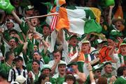 18 June 1994; Republic of Ireland supporters celebrates following the FIFA World Cup 1994 Group E match between Republic of Ireland and Italy at Giants Stadium in New Jersey, USA. Photo by David Maher/Sportsfile
