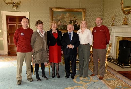 Special Olympics World Winter Games Squad Reception in Aras an Uachtarain