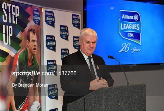Allianz Football League 2018 Launch