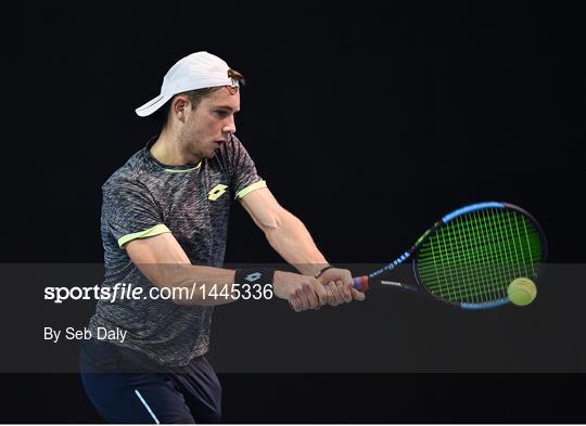 Irish Davis Cup team practice session
