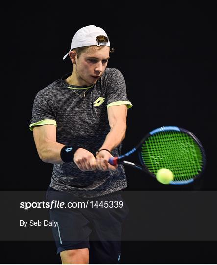 Irish Davis Cup team practice session