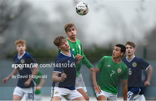 Republic of Ireland v Scotland - U18s Schools