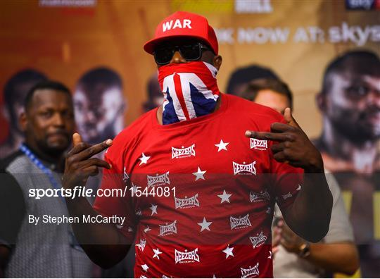 buy popular 92867 cc0c7 Dillian Whyte vs Joseph Parker - Weigh-In - 1544081 - Sportsfile