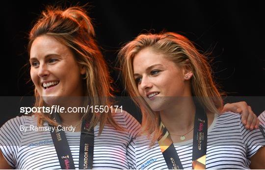 Irish Hockey Squad homecoming from Women's Hockey World Cup