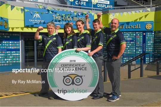 GAA Museum & Tours celebrates TripAdvisor 'Hall of Fame' Award