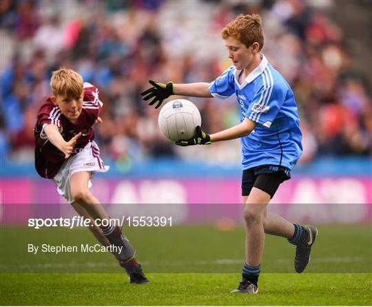 INTO Cumann na mBunscol GAA Respect Exhibition Go Games at Dublin v Galway - GAA Football All-Ireland Senior Championship Semi Final