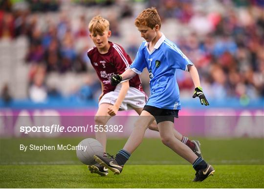 INTO Cumann na mBunscol GAA Respect Exhibition Go Games at Dublin v Galway - GAA Football All-Ireland Senior Championship Semi Final