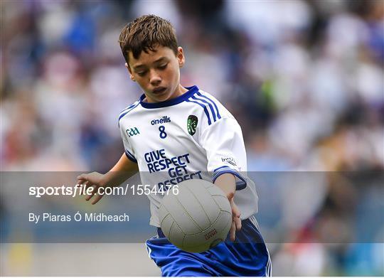 INTO Cumann na mBunscol GAA Respect Exhibition Go Games at Monaghan v Tyrone - GAA Football All-Ireland Senior Championship Semi Final