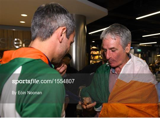 Homecoming of the Irish Team from the European Athletics Championships in Berlin