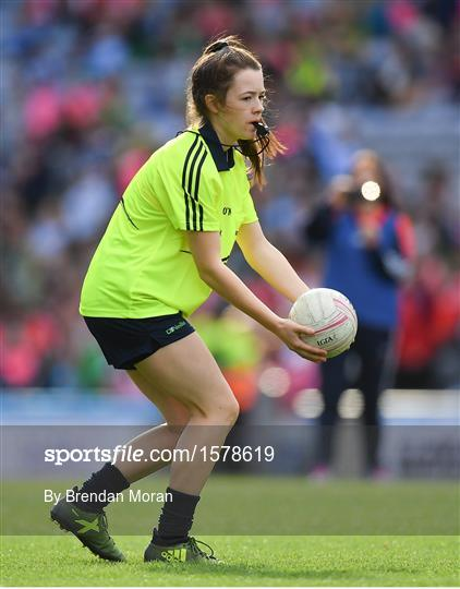 Half-time GO Games during the TG4 All-Ireland Ladies Football Championship Finals