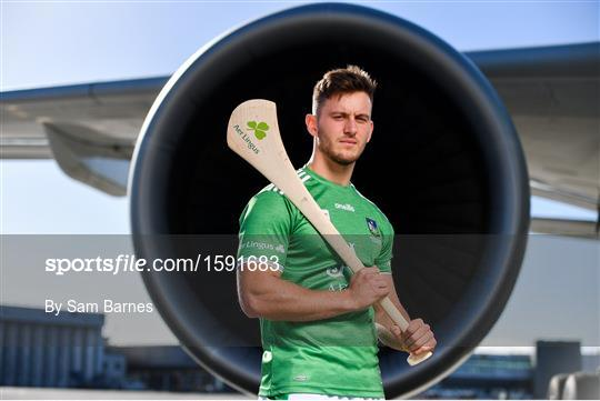 Aer Lingus, in partnership with the GAA and GPA, unveils the customised playing kit for the Fenway Hurling Classic