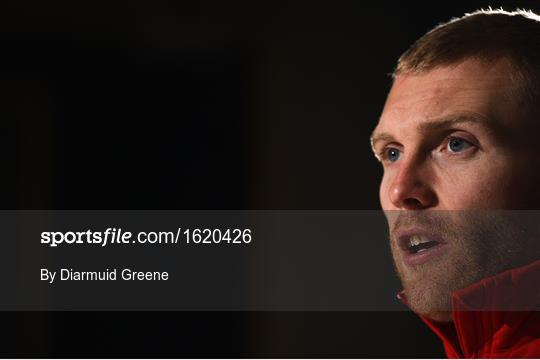 Munster Rugby Squad Training and Press Conference