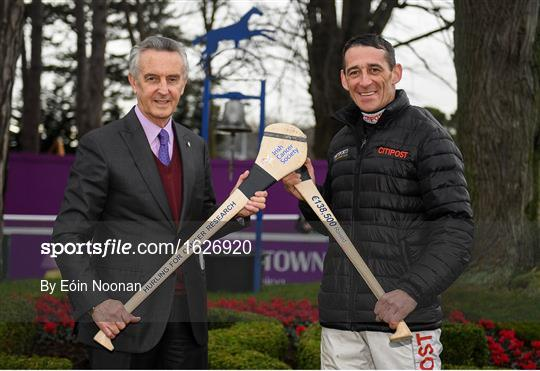 Jim Bolger and Davy Russell announce fundraising total from Hurling for Cancer Research 2018