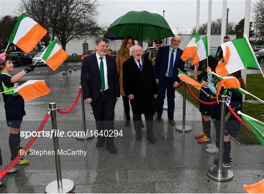 President Michael D Higgins visits FAI Headquarters