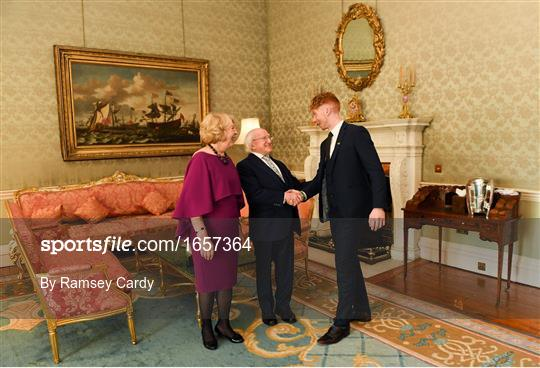 President Michael D Higgins hosts a reception for 2018 All-Ireland Hurling Champions Limerick
