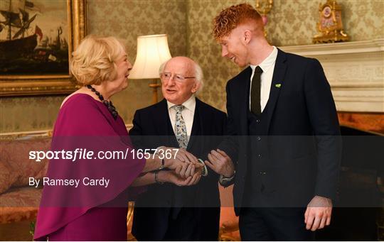 President Michael D Higgins hosts a reception for 2018 All-Ireland Hurling Champions Limerick