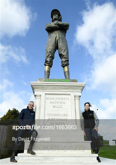 Fearless Jockey - Paddy Power Unveil 25 Foot Statue at Cheltenham