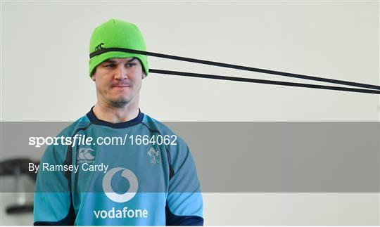 Ireland Rugby Gym Session and Press Conference