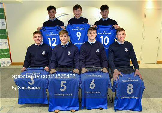 Leinster Rugby Schools Top 15 Jersey Presentations