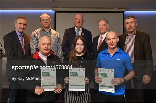 Presentation of certificates to new referees