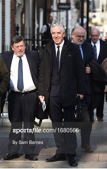 The Football Association of Ireland attend a meeting with the Oireachtas Committee on Sport