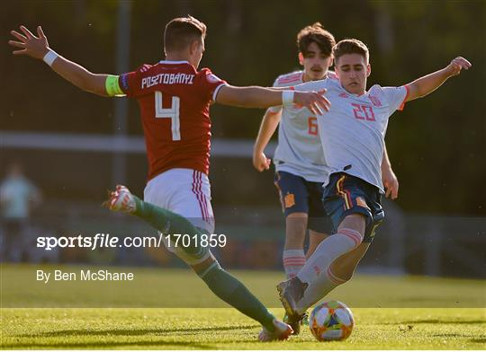 Hungary v Spain - 2019 UEFA European Under-17 Championships Quarter-Final