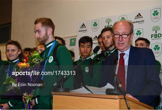 Team Ireland homecoming from Minsk 2019 European Games