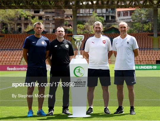 Republic of Ireland U19's Press Conference & Training Session