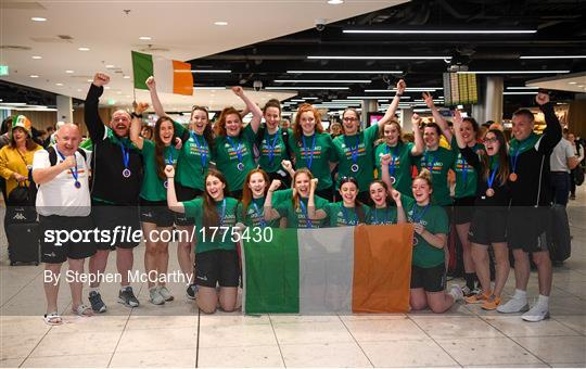 Basketball Ireland bronze medallist squad return from FIBA U20 Women's European Championships