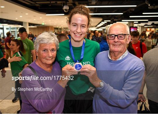 Basketball Ireland bronze medallist squad return from FIBA U20 Women's European Championships