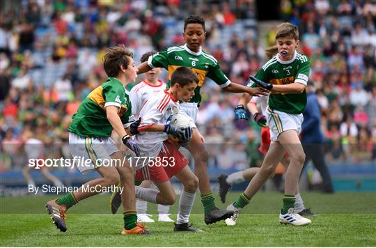 INTO Cumann na mBunscol GAA Respect Exhibition Go Games at Kerry v Tyrone - GAA Football All-Ireland Senior Championship Semi-Final