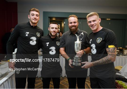 2019 Open Champion Shane Lowry visits Republic of Ireland Squad