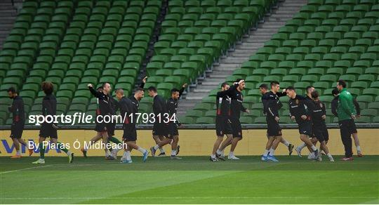 Bulgaria Squad Training and Press Conference