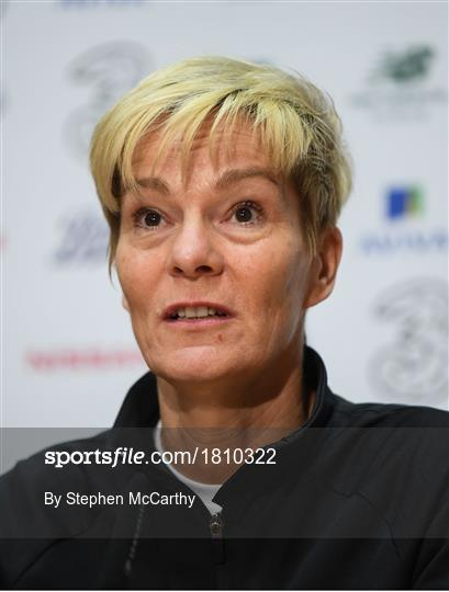 Republic of Ireland Women's Team Press Conference & Training Session