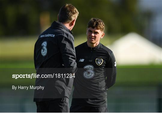 Republic of Ireland U21's Press Conference & Training Session