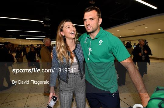 Ireland Rugby Team return from the Rugby World Cup
